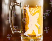 IPIIV With Sasquatch Laser Etched Beer Mug | Sasquatch Partied In Isla Vista | Custom Engraved Gift | Gifts for UCSB Alumni and Yeti Fans