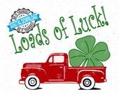 Saint Patricks Day Vintage Old Truck car svg Saint Patrick's Day Svg Shamrock svg Clover svg shamrock heart svg patricks day cut file