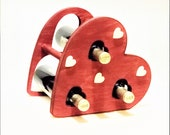 Countertop Wine Rack | Heart Shaped Wine Rack | Makes THE BEST for Him or Gift for Her | Romantic Love Gift for Wine