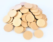 Wood Ornament Blanks | Clean MDF circles rotary CUT without burning for crafting projects, figure bases, ornaments, stamp backs and more!