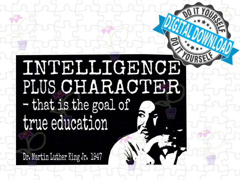Black History Month SVG  MLK Famous quote about intelligence image 0
