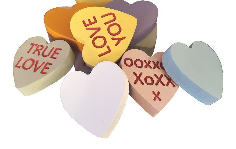 Conversation Hearts Wooden Shelf Decor Valentine's Day image 0