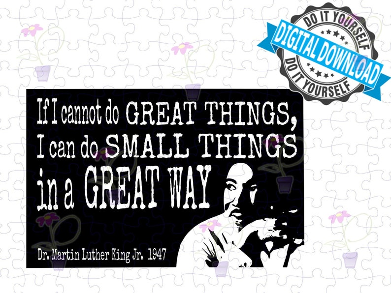 Black History Month SVG MLK quote about small things in a image 0