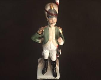Vintage Porcelain Napoleonic French Soldier Figurine - Soldat d'Infanterie