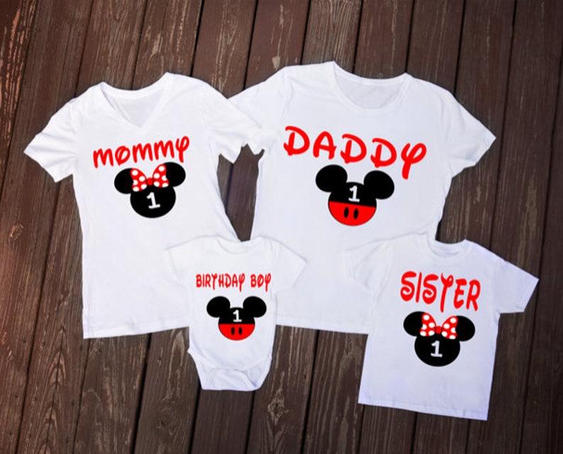 Mickey Mouse Inspired Birthday Shirt Disney Family