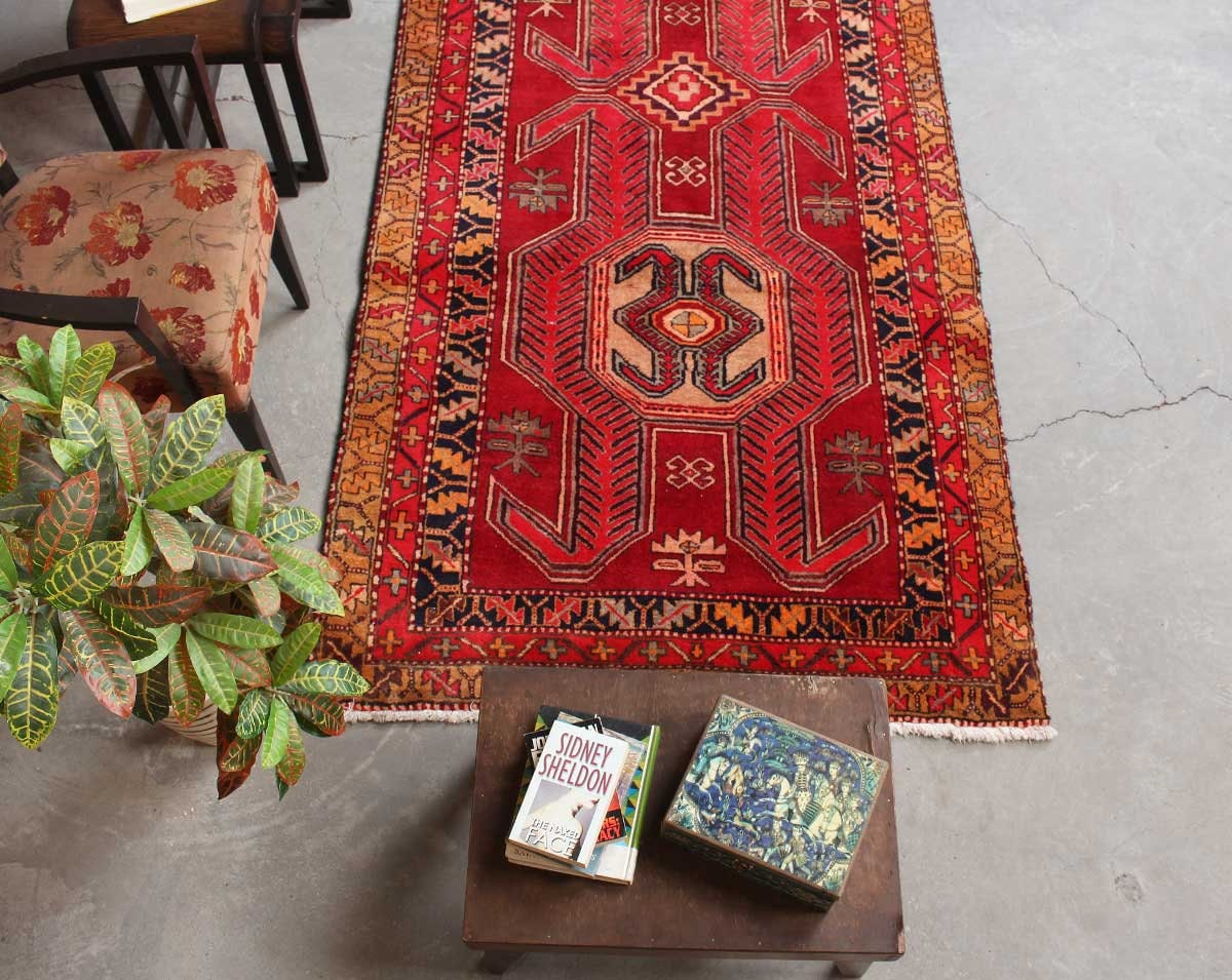 Boho Vintage Red Kitchen Rug Runner Oriental Antique Farmhouse Rug Runner Oushak Red Rustic Home Decor Living Room 4 3 X 9 10 061354