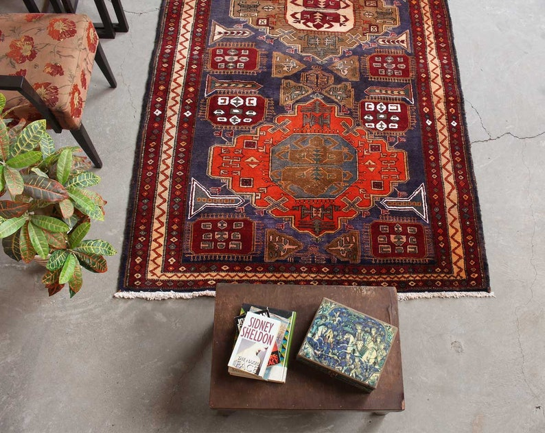 Traditional Geometric Design Red Rug Turkish Living Room Rug   Etsy