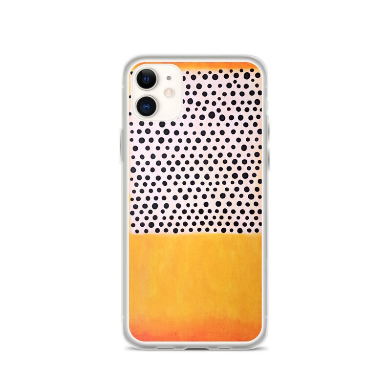 Polka Dots Abstract Art iPhone Case Abstract Art Phone Case image 0