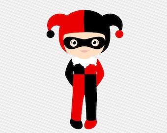 Kawaii Mädchen Harley Quinn