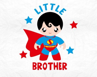 little brother super SVG Clipart Cut Files Silhouette Cameo Svg for Cricut and Vinyl File cutting Digital cuts file DXF Png Pdf Eps vector