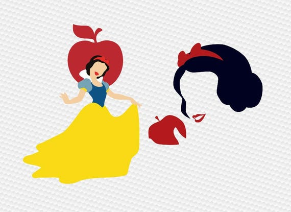 Snow White Svg Snow White with Hearts Svg Disney Princess Svg The Fairest Svg Cut Files for Cricut and Silhouette