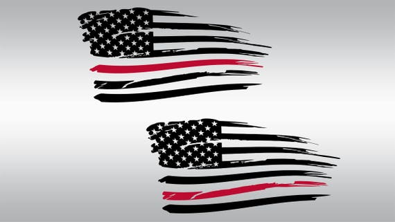 Free Shipping NEW American Waving Thin Red Line Flag Black Beanie Hat