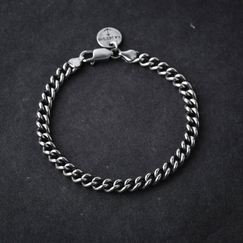 9045bb9435d26 Sterling Silver | small oval chain bracelet | chain link bracelet | chain  bracelet | silver link | silver chain | unisex chain bracelet