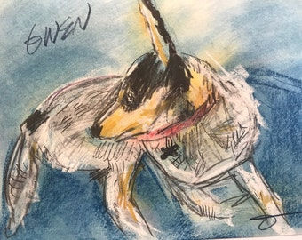 This is Penguin. You would be ordering a custom sketch of your dog.
