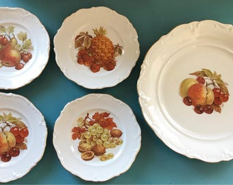 Winterling Bavaria Germany dessert platter and set of 4 dessert plates