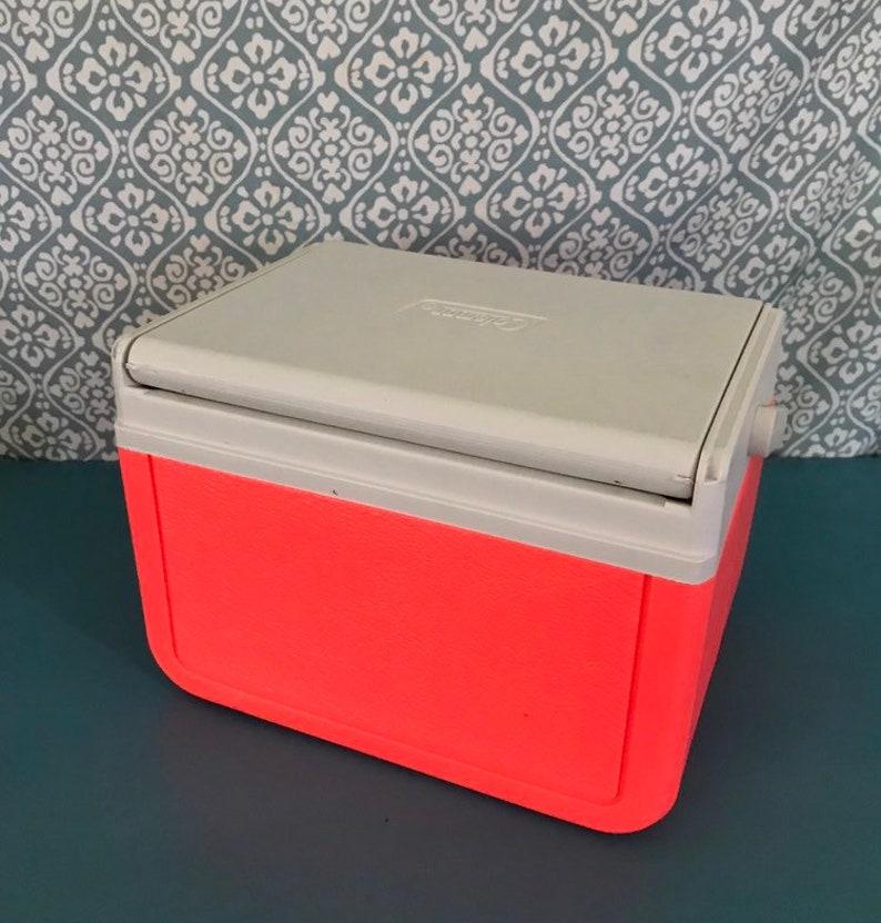 retro cooler Vintage Coleman Bubblicious promo neon pink cooler mini cooler 6 pack