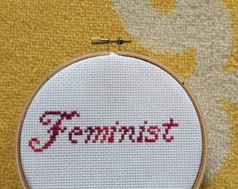 Feminist Cross Stitch