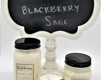 Blackberry Sage - Soy Candle - Jar Candle - Mason Jar - Farmhouse - Scented Candle - Summer - Farmhouse Decor - Candle - Natural - Fruity