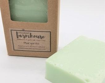 Margarita - Bar Soap - Goats Milk - All Natural - Farmhouse - Fresh  - Natural Soap - Citrus Goats Milk Soap - Handmade Soap - Cocktail Soap