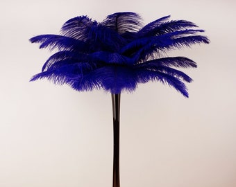 REGAL Ostrich Plumes with Eiffel Tower Vase - Centerpiece Sets - For Great Gatsby Party, Special Event & Wedding Reception Decor ZUCKER™