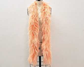 CANTALOUPE 3 Ply Ostrich Feather Boa - Luxurious Feather Boa for Fashion, Costume Design and Special Events - 2 Yards (6 Feet)ea ZUCKER®