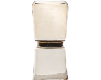 Rustic Glass Flower Vase, Smoke Brown & GOLD Rim, Flower Vase for Event and Wedding Centerpiece ZUCKER®