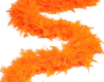 120 Gram Chandelle Feather Boa Orange 2 Yards For Party Favors, Kids Craft & Dress Up, Dancing, Wedding, Halloween, Costume ZUCKER®