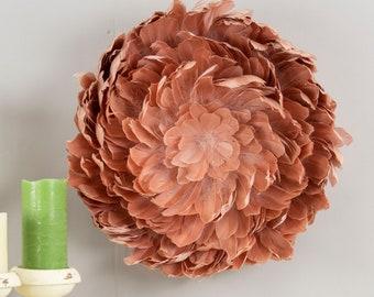 Medium JuJu Inspired Feather Wall Decor, Decorative Goose Feather Wall Art, for Home & Office ZUCKER® Original Designs