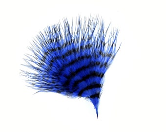 Blue & Black Stenciled Marabou Feathers, Loose Turkey Marabou Feathers, Short Soft Fluffy Down, Art and Craft, Fly Fishing Supply ZUCKER®