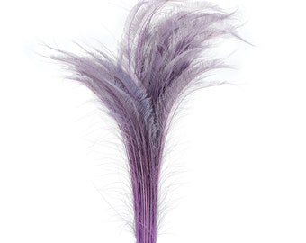 "Long Bleach Dyed Peacock Swords 25-40"" Purple ORCHID, 10 to 100 Piece, Floral Decor, Millinery, Costume ZUCKER® Dyed & Sanitized in USA"