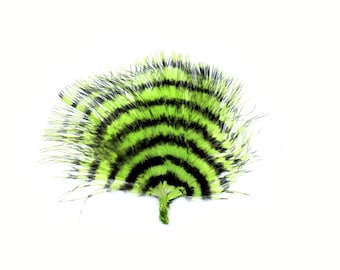 Green & Black Stenciled Marabou Feathers, Loose Turkey Marabou Feathers, Short Soft Fluffy Down, Art and Craft, Fly Fishing Supply ZUCKER®