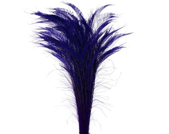 "Long Bleach Dyed Peacock Swords 25-40"" REGAL Purple, 10 to 100 Piece, Floral Decor, Millinery, Costume ZUCKER® Dyed & Sanitized in USA"