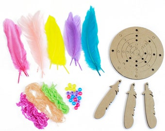 DIY Dream Catcher Kit, Dream Weaver-PASTEL, Dreamcatcher Craft Kit, Craft Kits for Kids, Kids Crafting Kit, Baby Shower Activity ZUCKER®