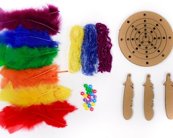 DIY Dream Catcher Kit, Dream Weaver-RAINBOW, Dreamcatcher Craft Kit, Craft Kits for Kids, Kids Crafting Kit, Feather Mobile  ZUCKER®