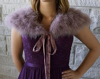 Marabou Feather Shawl with Satin Ties ZUCKER™ Feather Place Original Designs