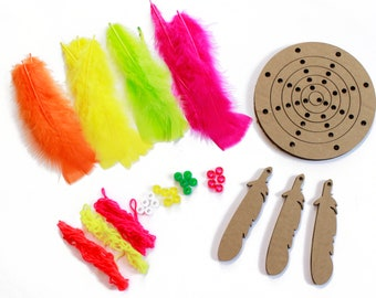 DIY Dream Catcher Kit, Dream Weaver-NEON, Dreamcatcher Craft Kit, Craft Kits for Kids, Kids Crafting Kit, Baby Shower Activity ZUCKER®