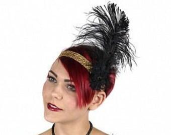 Flapper Great Gatsby Roaring 20's Feather Headband -  Halloween Costume Ostrich Feather Headband ZUCKER™