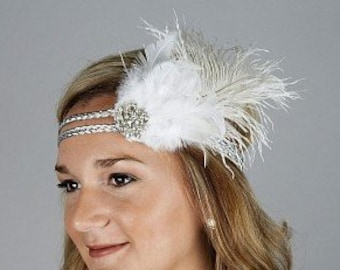 Great Gatsby - Harlem Nights - Roaring 20's - Costume Feather Headband & Fashion Accessory ZUCKER®