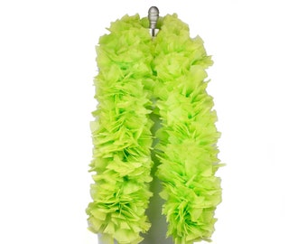 LIME Turkey Feather Boa - Large Economy Feather Boa for Carnival, Halloween, Costume Party, Burlesque & Showgirl Feather Boa ZUCKER®