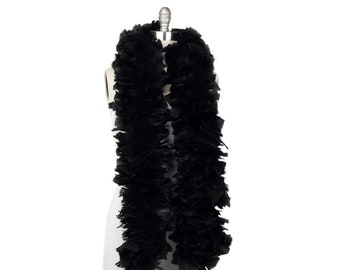 BLACK Turkey Feather Boa - Large Economy Feather Boa for Carnival, Halloween, Costume Party, Burlesque & Showgirl Feather Boa ZUCKER®