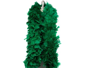 EMERALD Turkey Feather Boa - Large Economy Feather Boa for Carnival, Halloween, Costume Party, Burlesque & Showgirl Feather Boa ZUCKER®