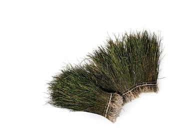 "Peacock Flue, 6-8"" NATURAL Iridescent Green Peacock Flue, Short Peacock Herl Feathers ZUCKER®"