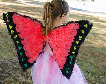 Glows under a Black Light Costume Butterfly Wings - Saturn Butterfly Feather Costume/Cosplay Wings  ZUCKER™