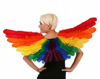 Rainbow PRIDE Feather Wings - Carnival Costume Festival Wings, LGBTQ Pride, ZUCKER® Feather Place Original Designs