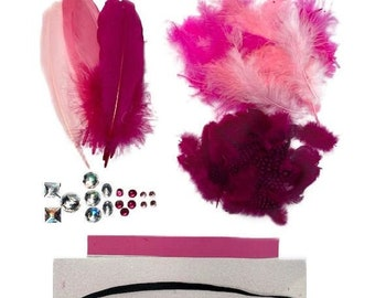 LOVEBUG Feather Crown Kit - For Arts, Kids Craft, DIY, Costume, Millinery and Fashion Design ZUCKER®