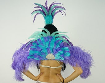 Tropical Breeze Carnival & Samba Feather Costume  - ZUCKER® Feather Place Original Designs - Unique Fantasy Costume Dance Wear