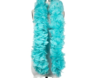 LT. TURQUOISE Turkey Feather Boa - Large Economy Feather Boa for Carnival, Halloween, Costume Party, Burlesque & Showgirl Costume ZUCKER®