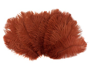"""Ostrich Feathers 9-12"""" COPPER, Ostrich Drabs, Centerpiece Floral Supplies, Carnival & Costume Feathers ZUCKER®Dyed and Sanitized USA"""