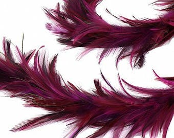 Decorative Feather Garland in Shocking Pink - Fall Thanksgiving Decor, Unique Holiday Decorative feather Garland ZUCKER®