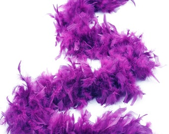 60 Gram Chandelle Feather Boa, Purple 2 Yards For Party Favors, Kids Craft & Dress Up, Dancing, Wedding, Halloween, Costume ZUCKER®